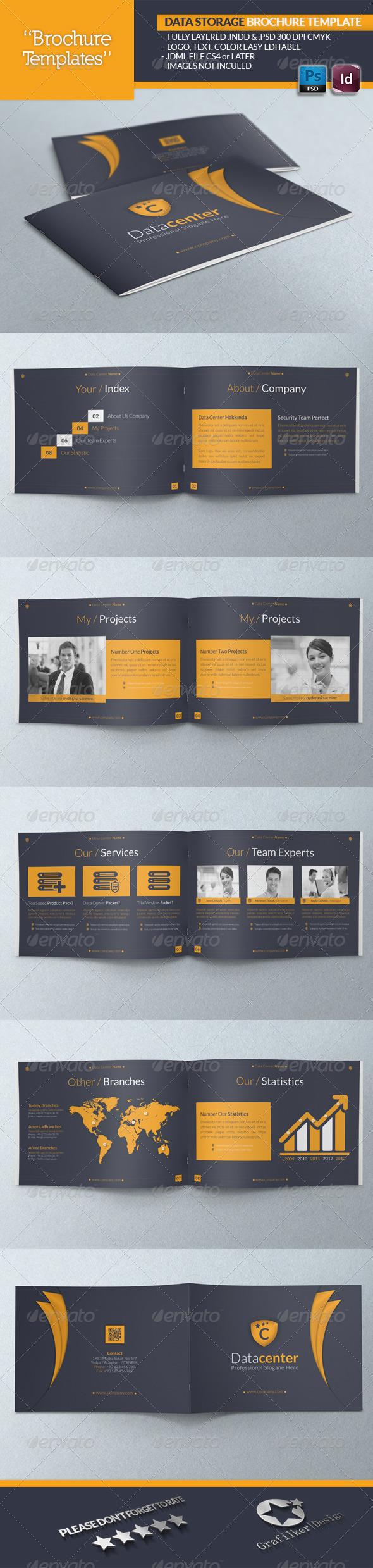 GraphicRiver Data Storage Brochure Template 4778220