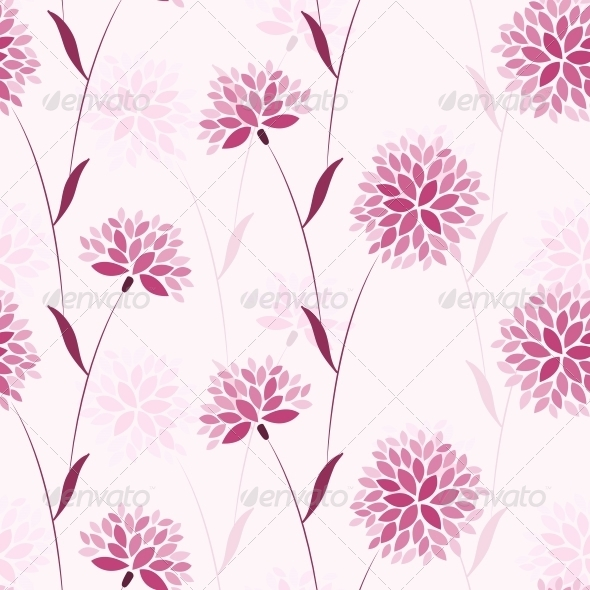 Seamless Vector Flower Elegance Pattern
