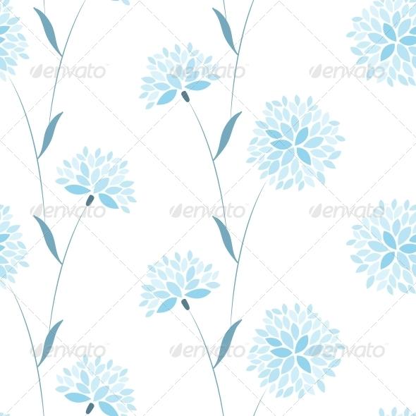 Seamless Vector Flower Elegance Pattern