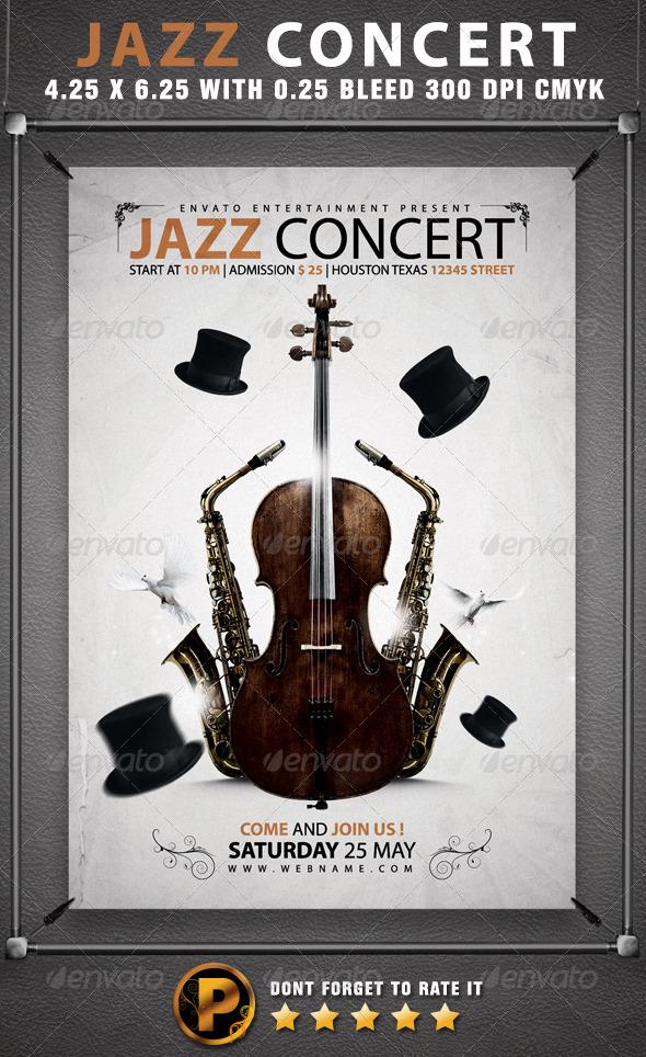 Jazz Concert Flyer Template - Concerts Events