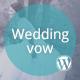 Wedding vow – Responsive WordPress Theme  Free Download