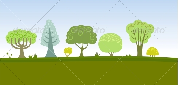 GraphicRiver Trees Pattern 4779281