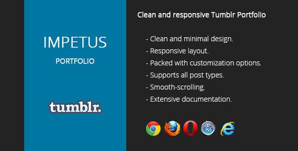 ThemeForest Impetus Tumblr Portfolio Theme 4766460