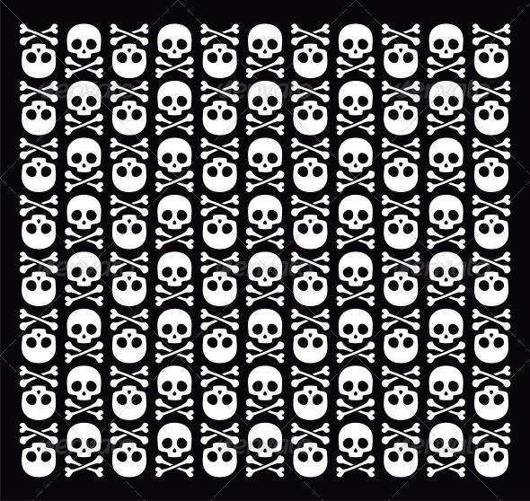 GraphicRiver Vector Skull Pattern 4779700