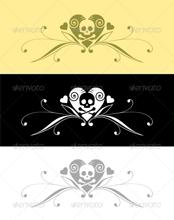 GraphicRiver Heart and Skull 4779702