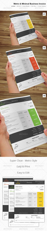 Metro & Minimal Business Invoice