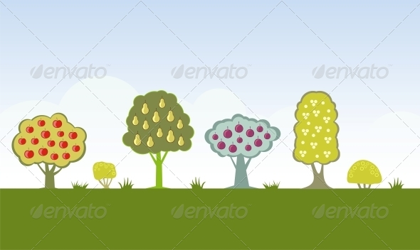 GraphicRiver Fruit Trees 4780030