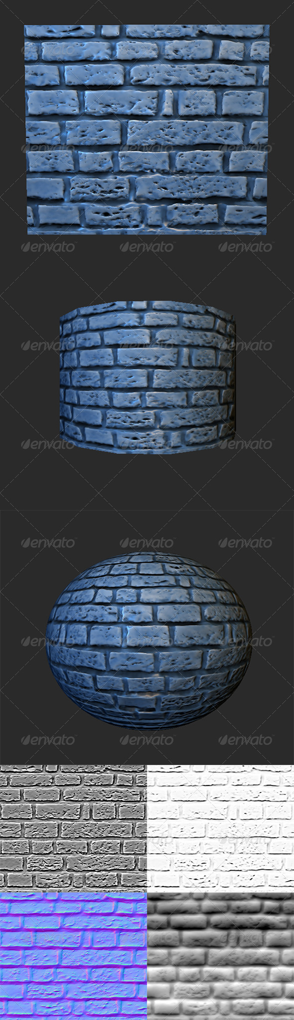 Stone Brick - 3DOcean Item for Sale