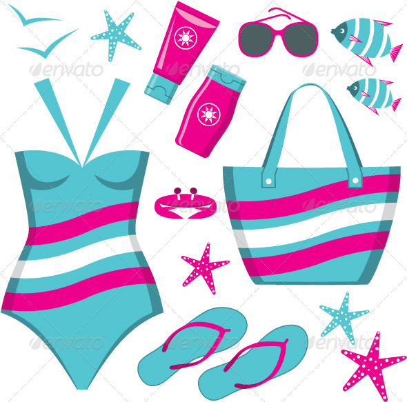 GraphicRiver Fashionable Set with a Swimming Suit 4780328