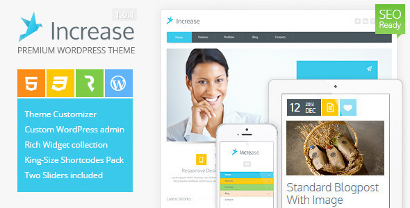 ThemeForest Increase Premium Business WordPress Theme 4769391