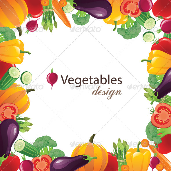 GraphicRiver Vegetable Frame 4780392