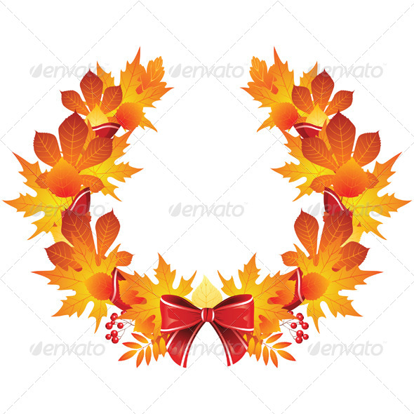 GraphicRiver Autumn Wreath 4780449
