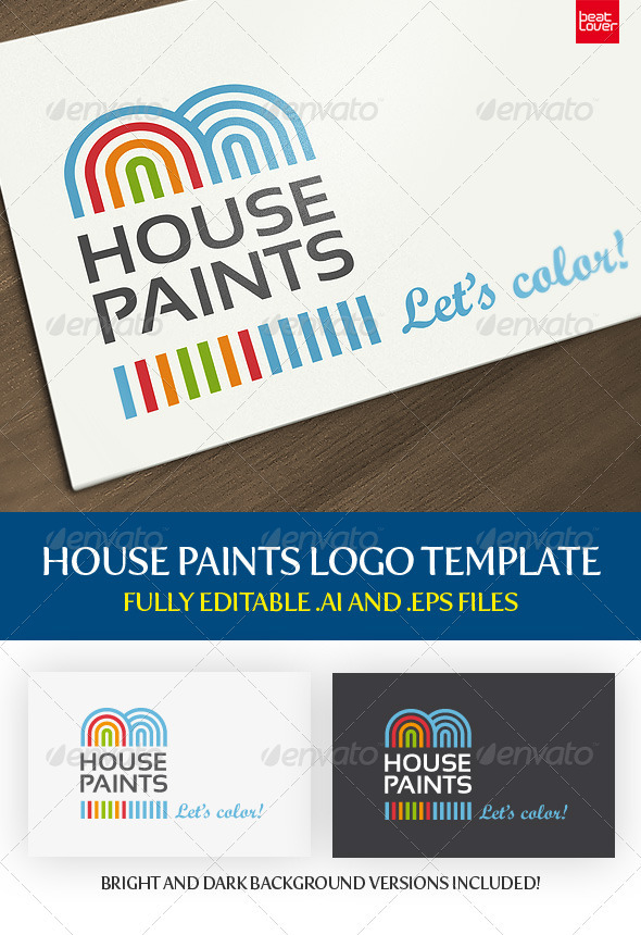 GraphicRiver House Paints House Repairs Logo 499226