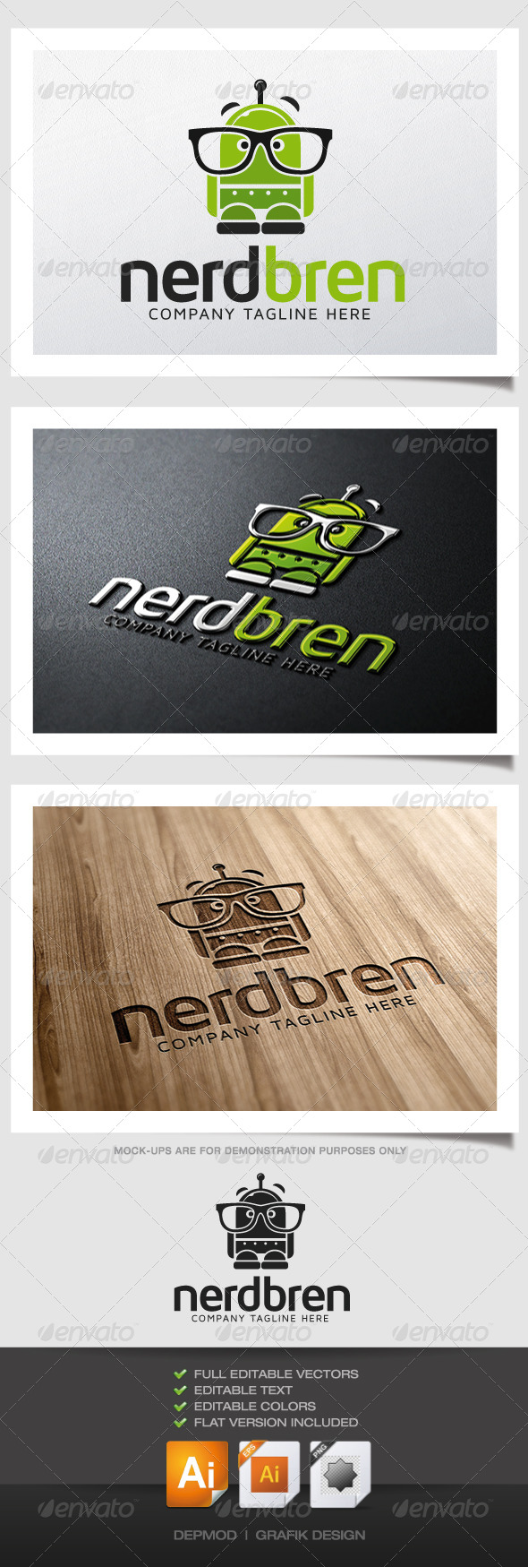 GraphicRiver Nerd Bren Logo 4781148