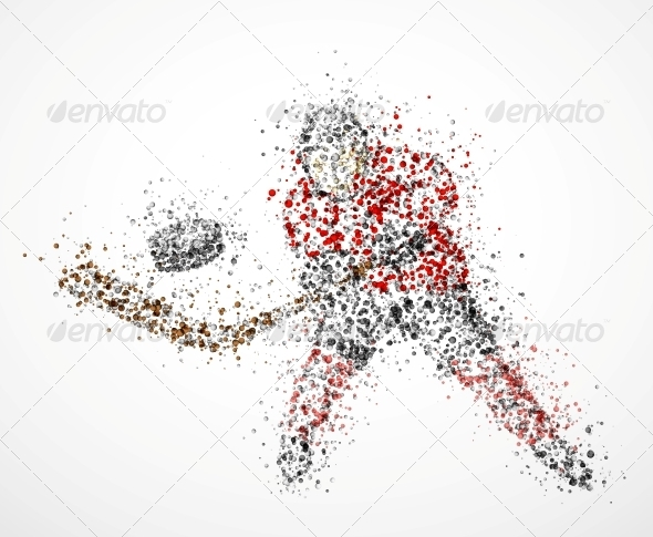 GraphicRiver Abstract Hockey Player 4781243