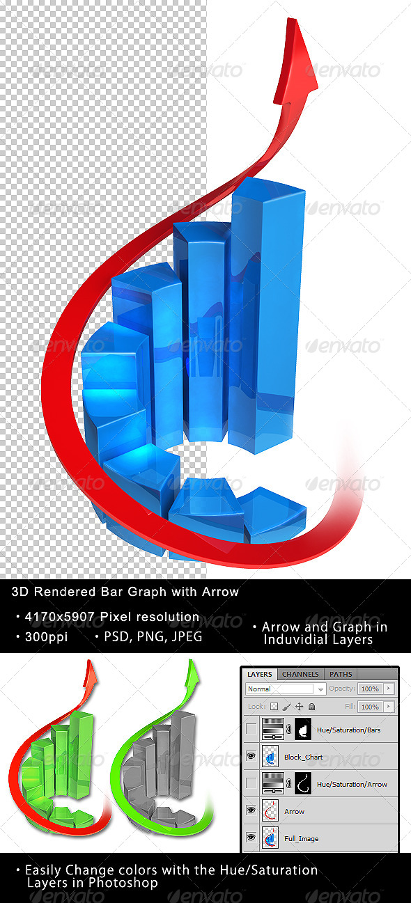 GraphicRiver Isolated 3D Bar Graph 01 4781477