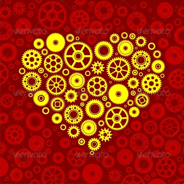 GraphicRiver Gears heart 4782003