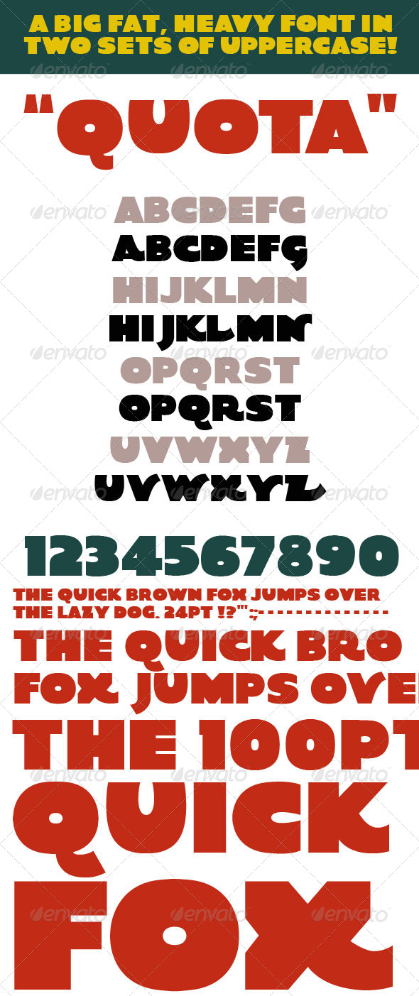 GraphicRiver Quota Big Fat Heavy Bold Font Typeface 4782015