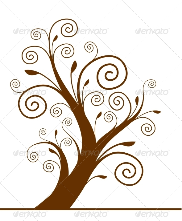 GraphicRiver Tree Silhouette 4782174