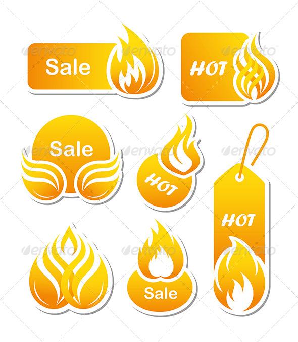 GraphicRiver Hot Sale Paper Cut Labels 4782442