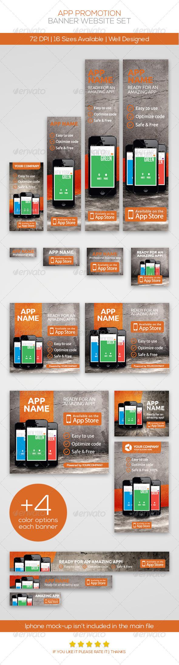 GraphicRiver App Promotion Web Banner Set 4782744