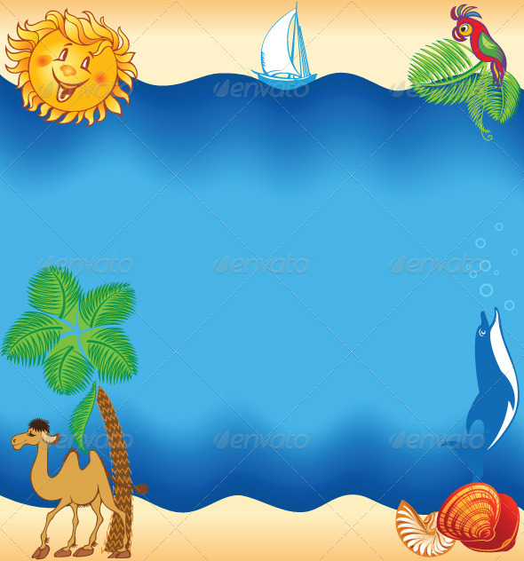 GraphicRiver Summer Sea Beach Background 4782865