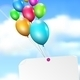 Multicolored Balloons with Paper Card - GraphicRiver Item for Sale
