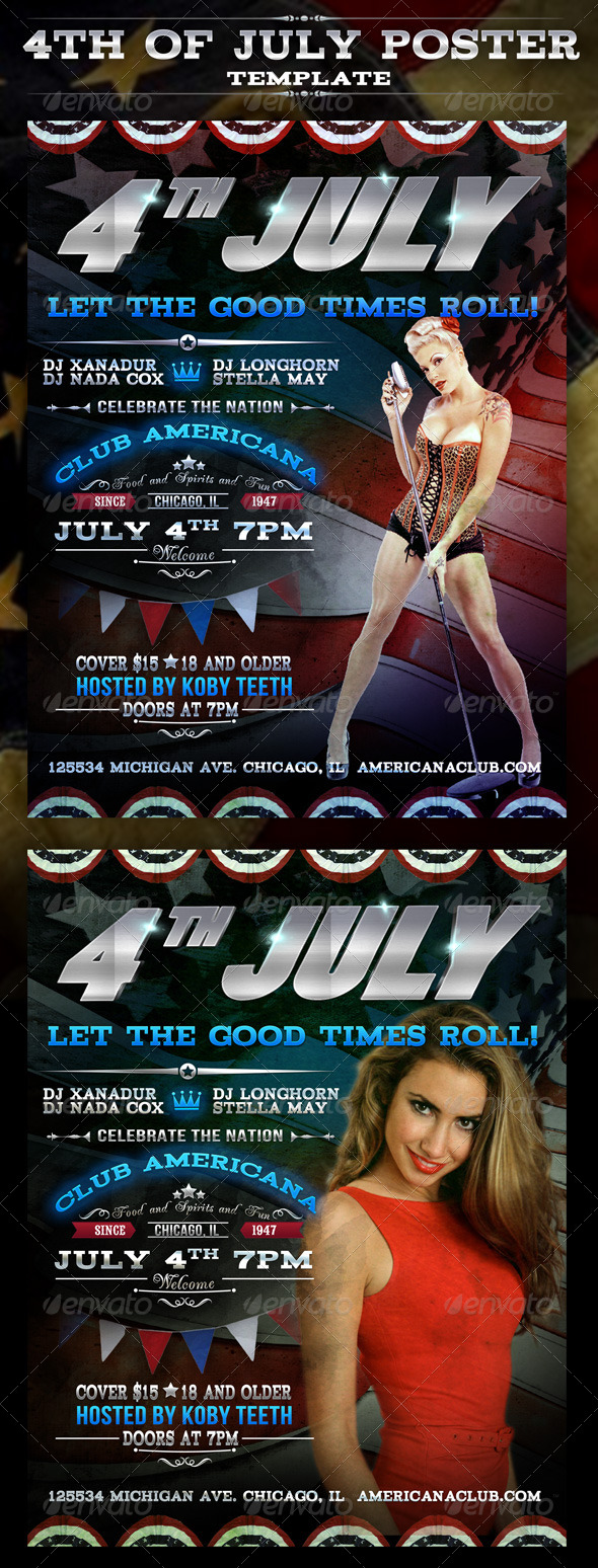 GraphicRiver 4th of July Party Poster 4699225