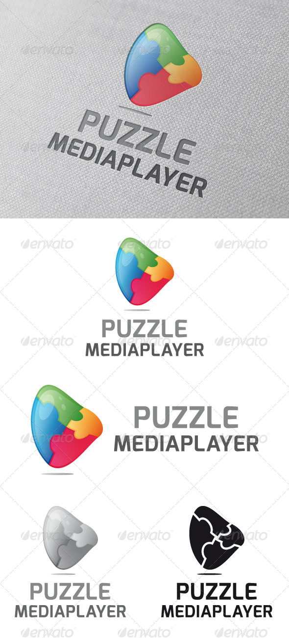 GraphicRiver Puzzle Media Player Logo Template 4783131