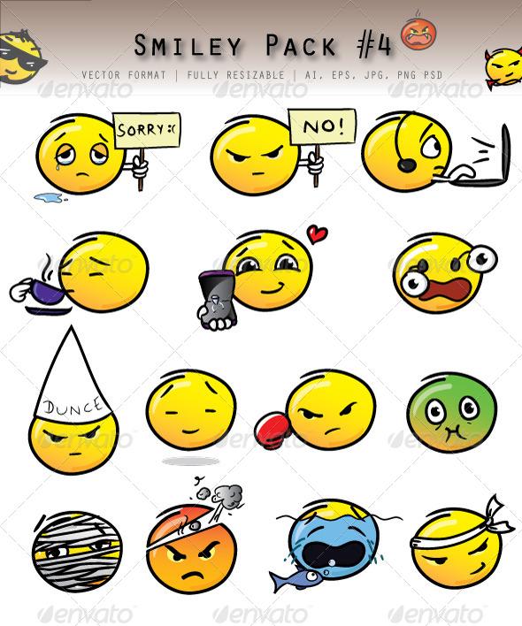 GraphicRiver Emoticon Pack 4783328