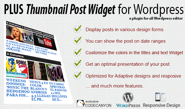Plus Thumbnail Post Widget – Premium Plugin (Widgets) images