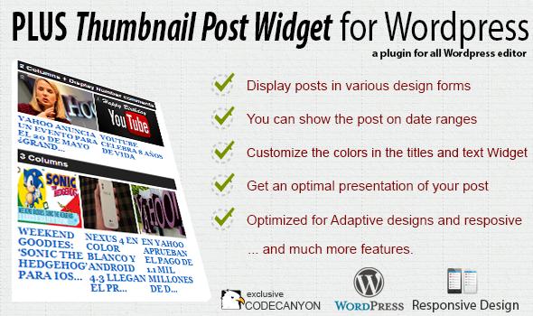 CodeCanyon Plus Thumbnail Post Widget Premium Plugin 4765303