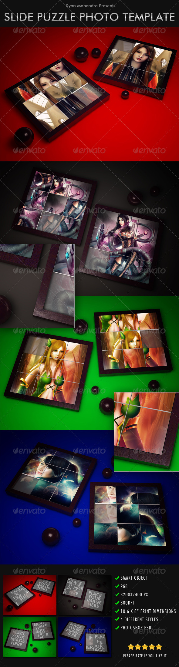 GraphicRiver Slide Puzzle Photo Template 4783341