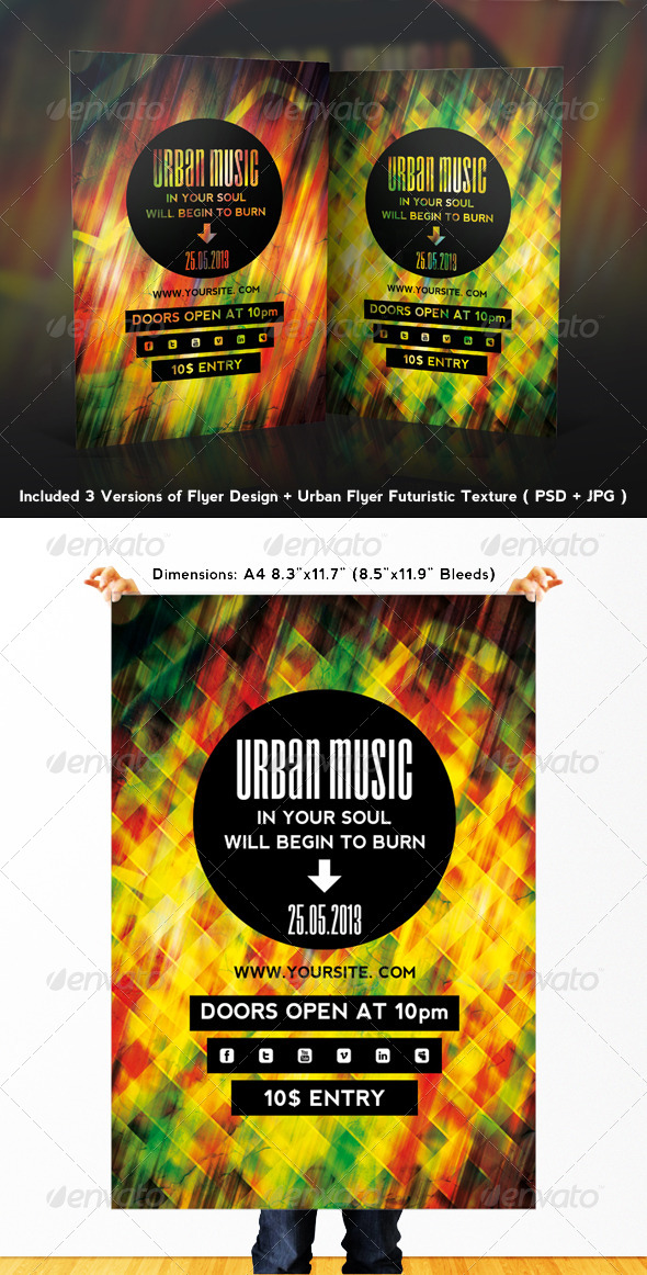 GraphicRiver Urban Music Flyer 4706536