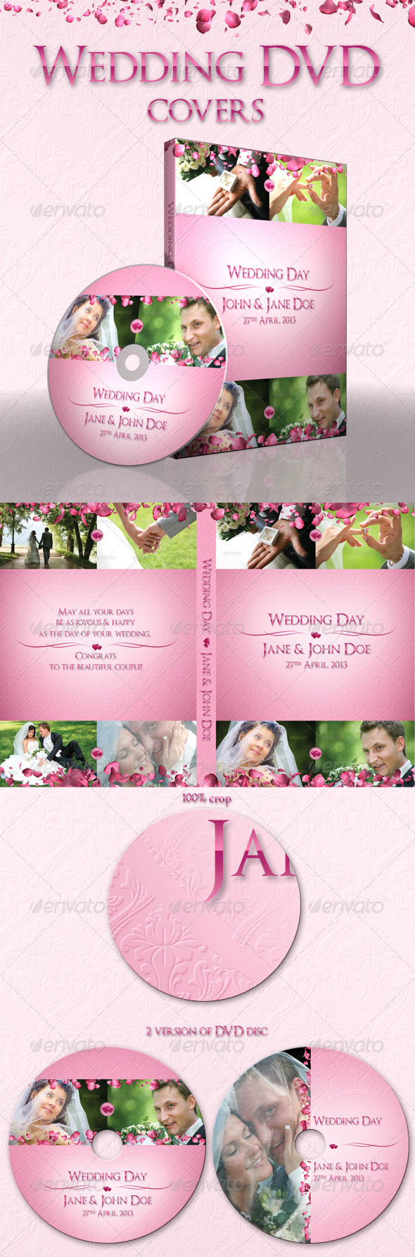 Wedding DVD covers - CD & DVD artwork Print Templates