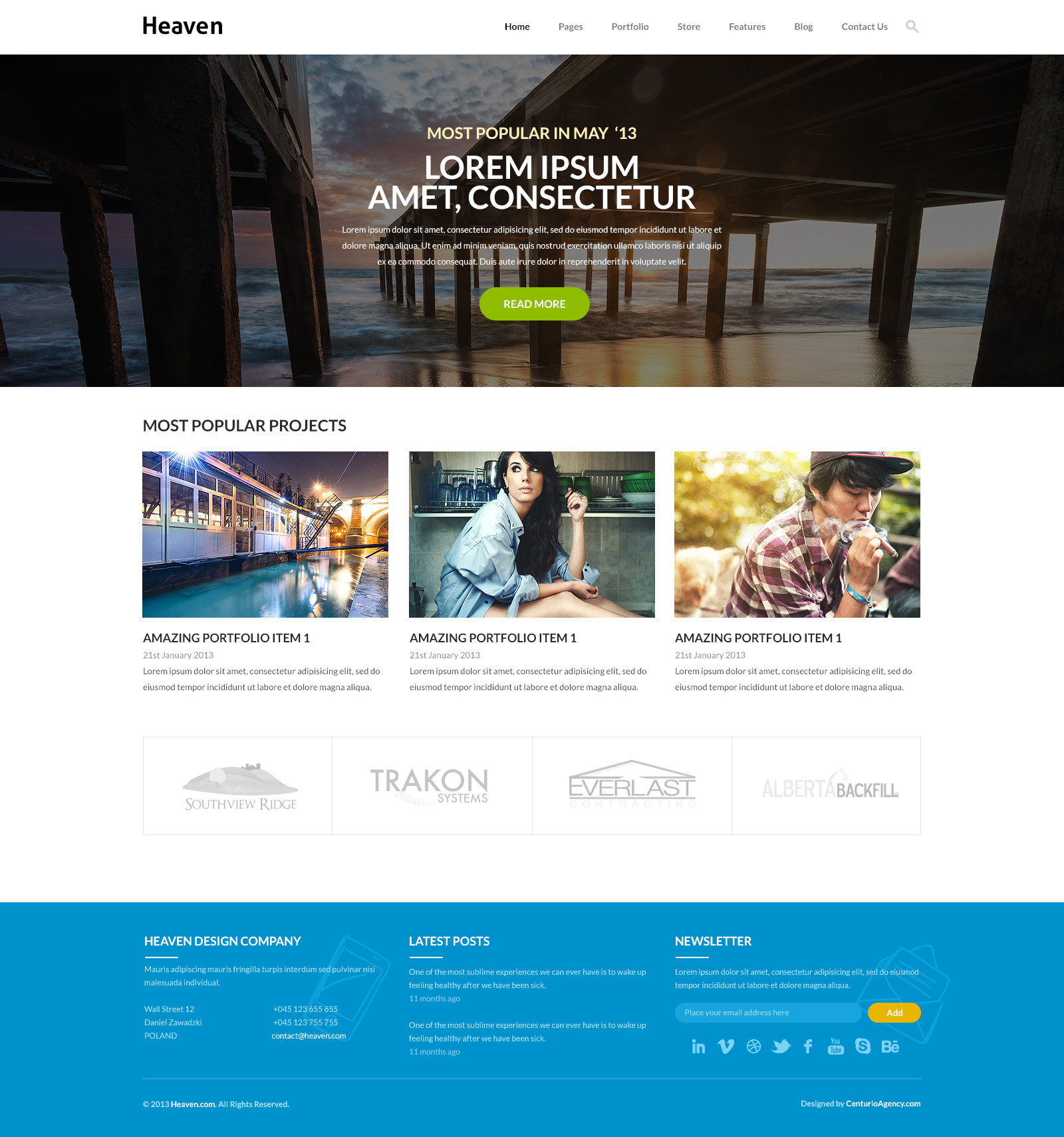 Heaven - Multi Purpose PSD Template