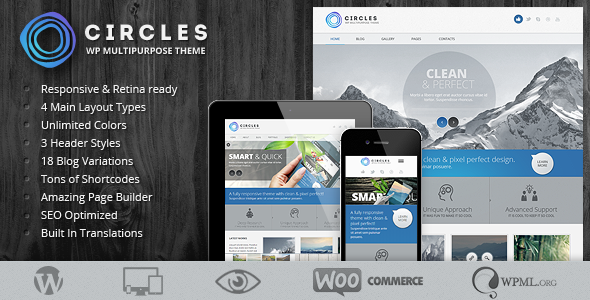 ThemeForest Circles Retina Responsive Multi-Purpose Theme 4739370