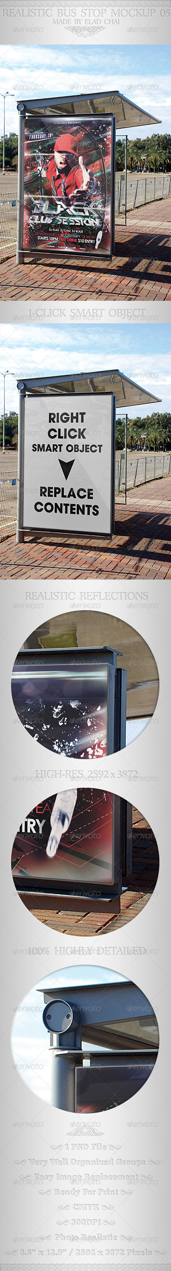 GraphicRiver Realistic Bus Stop Flyer Poster Mockup 05 4784513