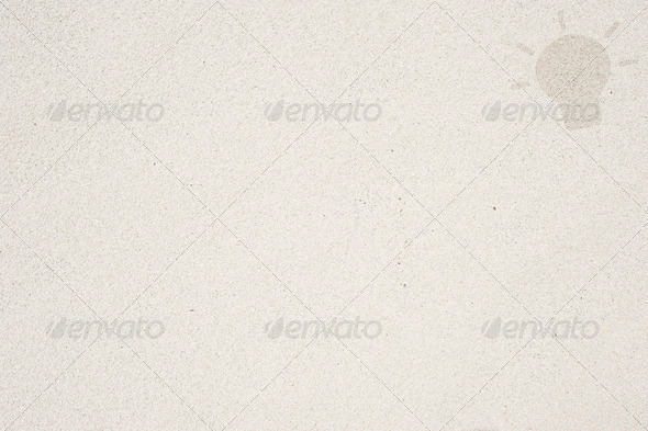 Idea icon on sand background and textured - Stock Photo - Images