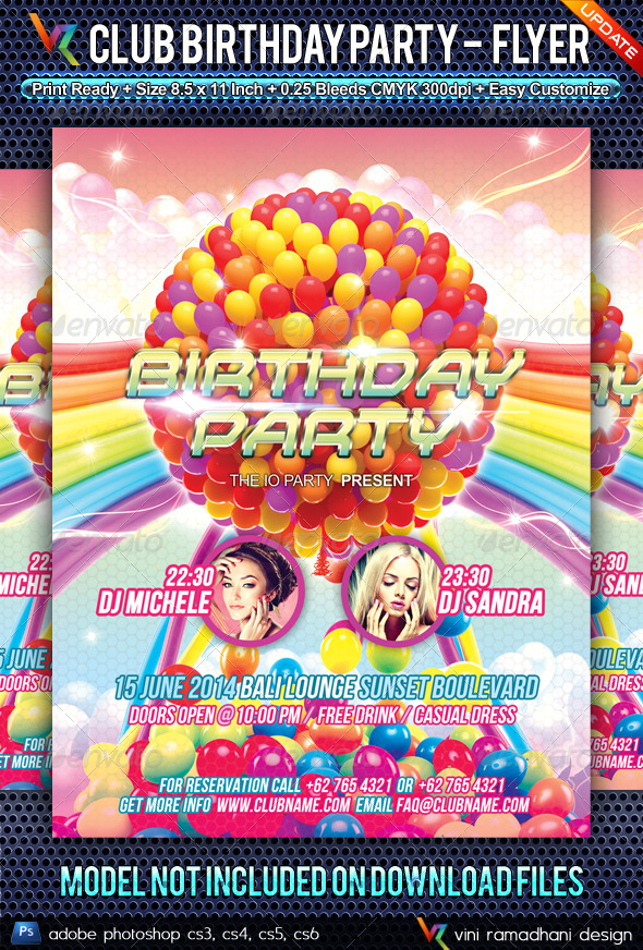 GraphicRiver Birthday Party Anniversary Flyer 4784742