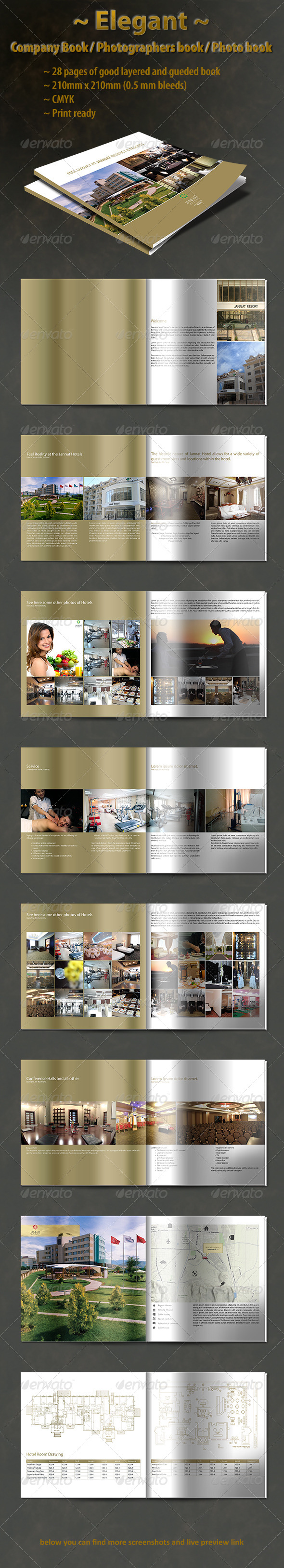 GraphicRiver Elegant Company Book Template 4713790