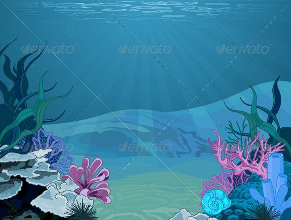 Stock Vector - GraphicRiver Underwater Landscape 4785316 ...