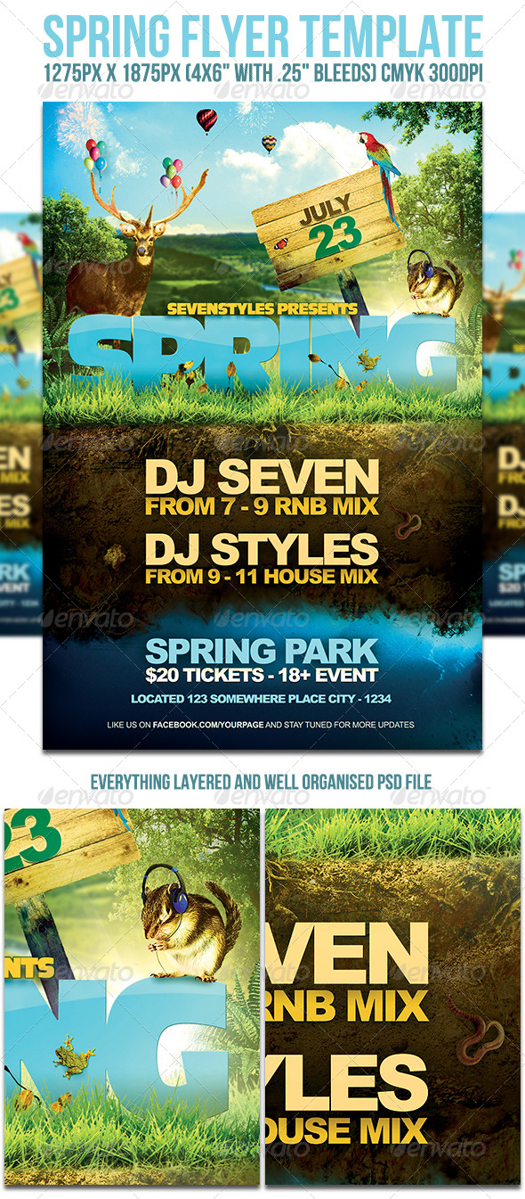 GraphicRiver Spring Flyer Template 4785323