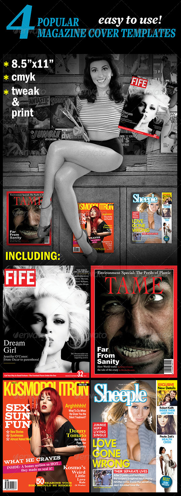 GraphicRiver 4 Popular Magazine Covers Templates 4785328