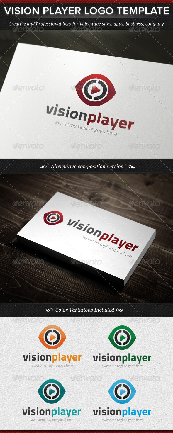 GraphicRiver Vision Player Logo Template 4785644