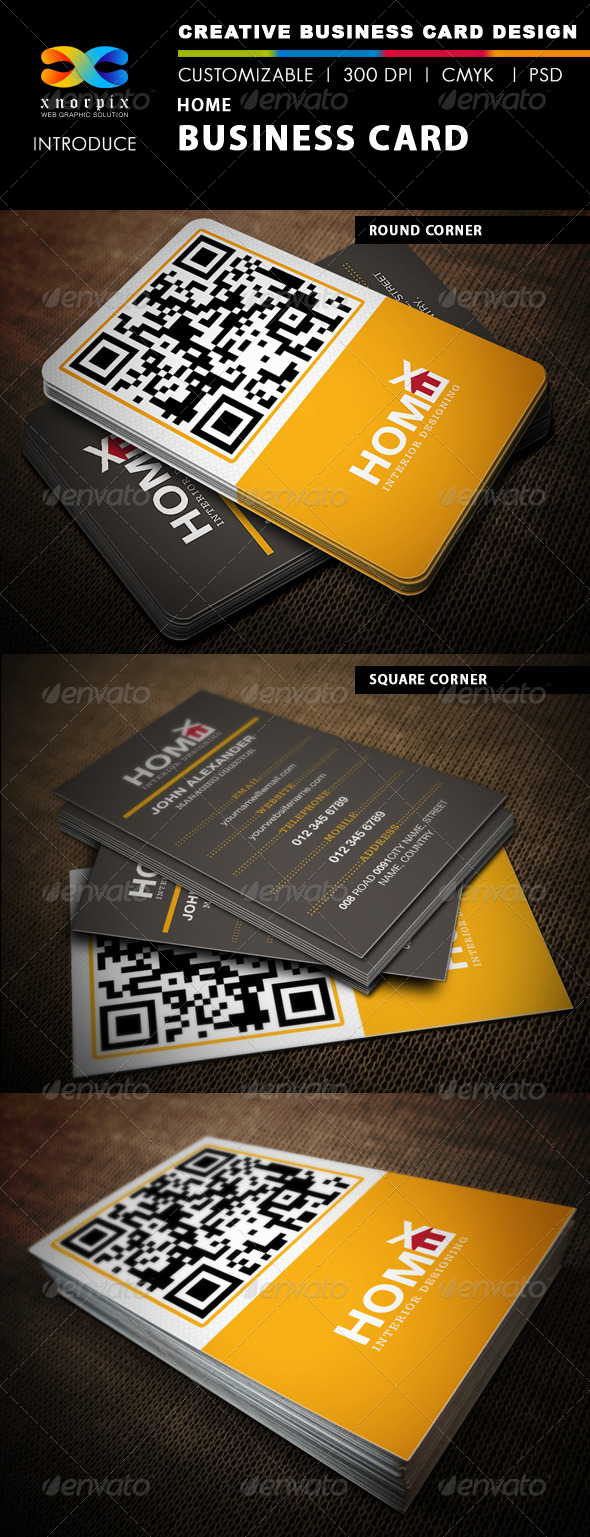 GraphicRiver Home Business Card 4785908