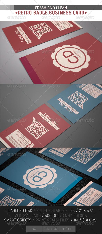 GraphicRiver Retro Badge Business Card 4540239