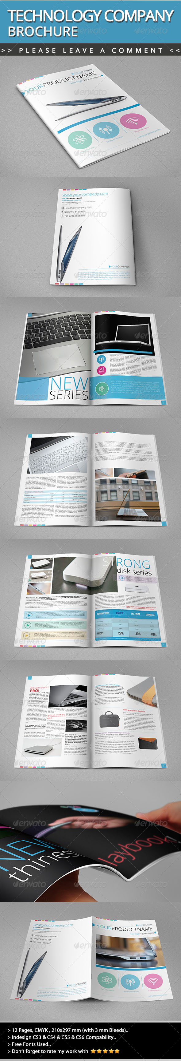 GraphicRiver Technology Company Brochure V01 4786592