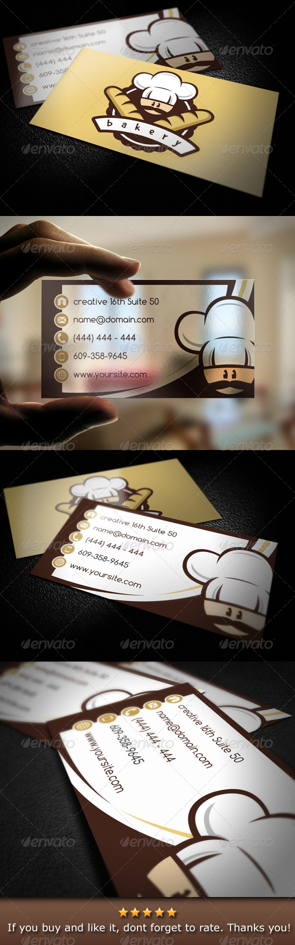 GraphicRiver Bakery Business Card 4786877