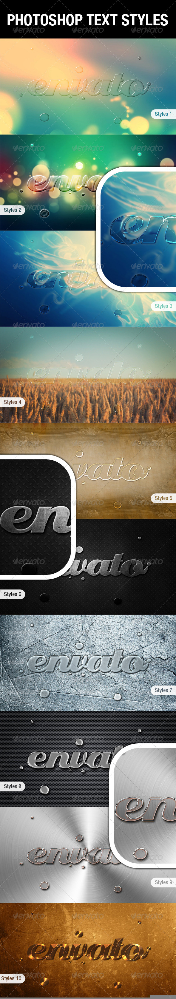 GraphicRiver Glass & Metals Photoshop Text Styles 4759732